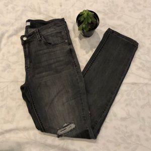 Kensie Grey Distressed Skinny Jeans